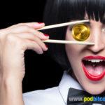 get your pod payment coin woman chopsticks