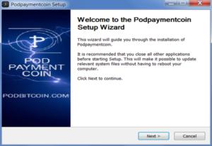 podbitcoin pod payment coin wallet installer setup wizard